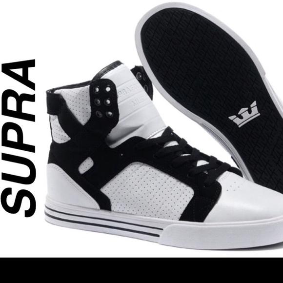 af83498d371 Supra Shoes | White Black Skytop Topssize 85 | Poshmark